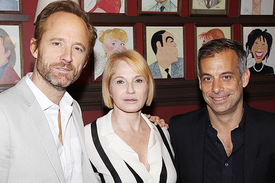 The Normal Heart Stars at Sardi's – John Benjamin Hickey – Ellen Barkin – Joe Mantello