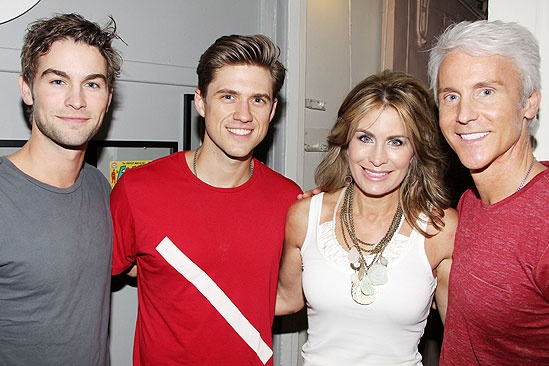 Chace Crawford at Catch Me If You Can – Chace Crawford – Aaron Tveit – mother Dana Crawford – father Chris Crawford