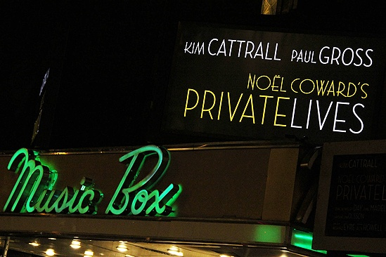 Private Lives opens - sign