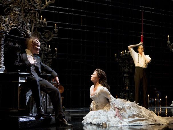 Show Photos - The Phantom of the Opera - Hugh Panaro - Kyle Barisich - Trista Moldovan