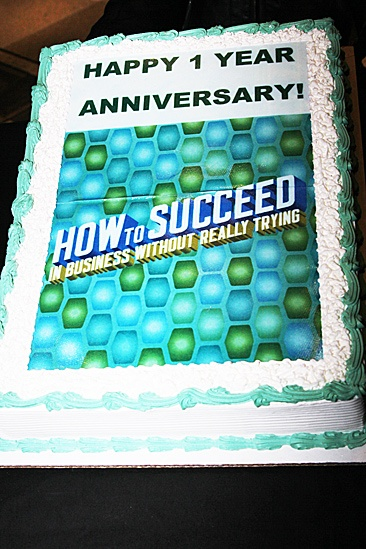 How to Succeed – One Year Anniversary – cake