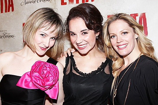Evita – Opening –Jill Paice, Alexandra Silber and Elizabeth Stanley