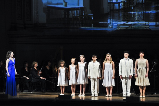 Sound of Music at Carnegie Hall – Laura Osnes – kids
