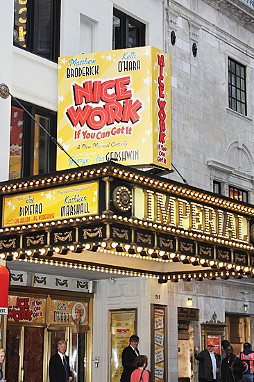Nice Work If You Can Get It – Opening Night – marquee