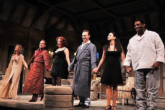 Don't Dress For Dinner – Opening Night – Patricia Kalember – Adam James – Jennifer Tilly – Ben Daniels – Spencer Kayden – David Aron Damane