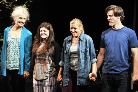 Harper Regan Opening Night – Mary Beth Peil – Madeleine Martin – Mary McCann – Gareth Saxe (curtain call)