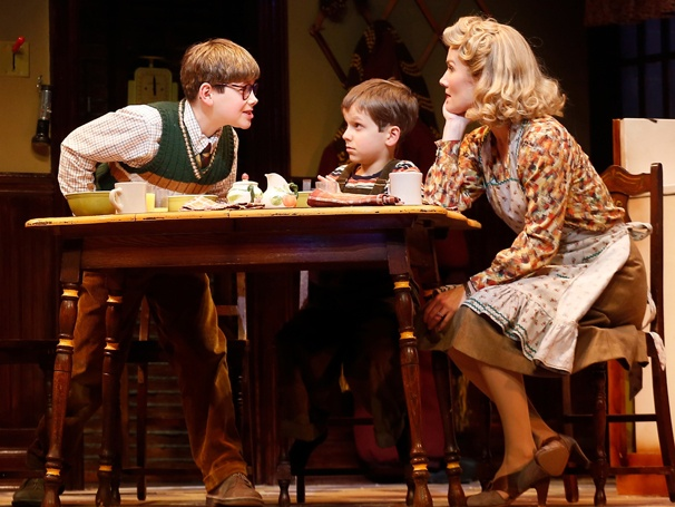 Show Photos- A Christmas Story - Johnny Rabe, Zac Ballard and Erin Dilly