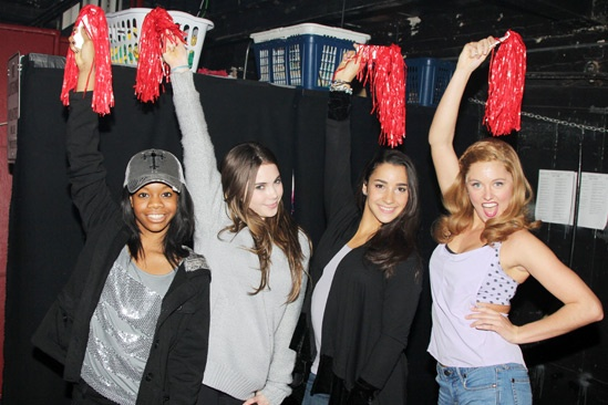 Gabby Douglas, McKayla Maroney and Aly Raisman at 'Bring It On' — Gabby Douglas — McKayla Maroney — Aly Raisman — Taylor Louderman