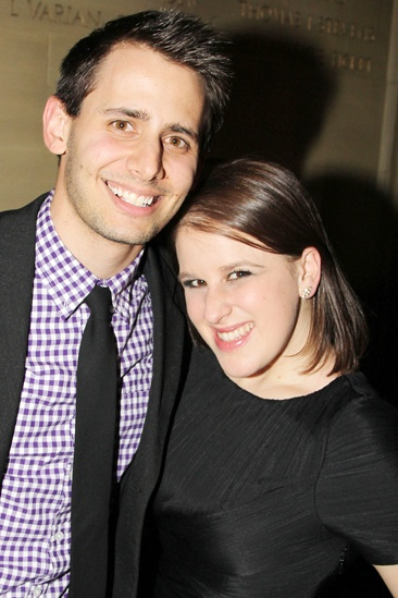 'Dead Accounts' Opening Night — Benj Pasek — Andrea Galambos