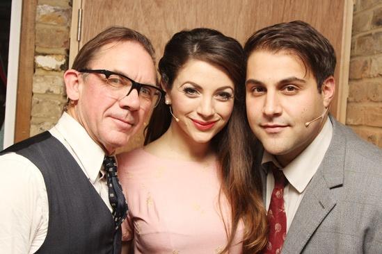 Backstage at 'Sweet Smell of Success' — David Bamber — Caroline Keiff — Adrian der Gregorian