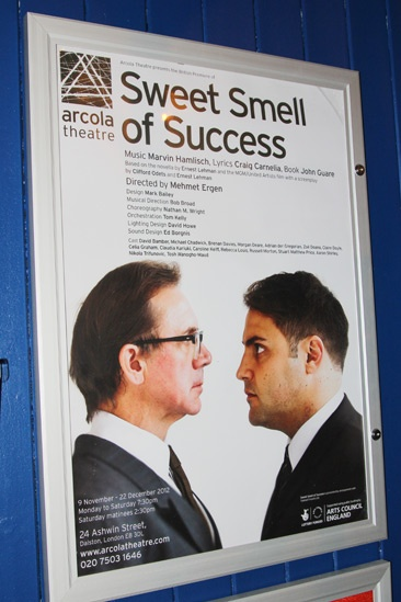 Backstage at 'Sweet Smell of Success'