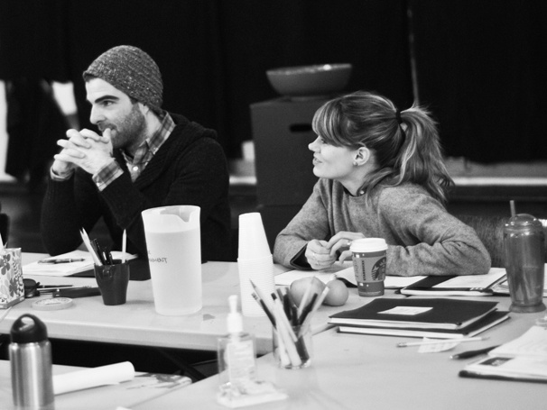 'The Glass Menagerie' Rehearsal — Zachary Quinto — Celia Keenan-Bolger