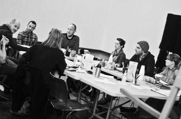'The Glass Menagerie' Rehearsal — Steven Hoggett — Benjamin Shaw — John Tiffany — Zachary Quinto — Celia Keenan-Bolger