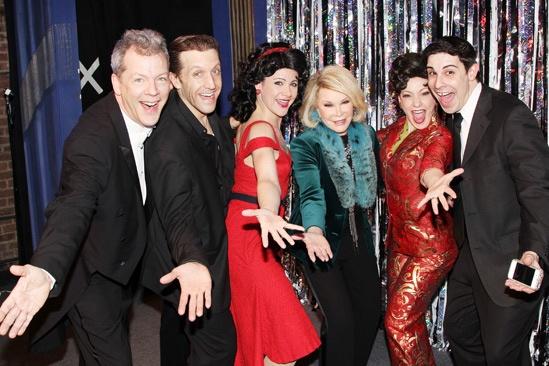 Joan Rivers at 'Forbidden Broadway' — David Caldwell — Scott Richard Foster — Natalie Charle Ellis — Joan Rivers — Jenny Lee Stern — Marcus Stevens