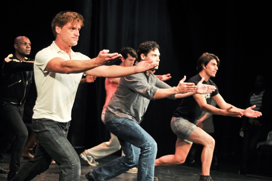 Hit the Wall Rehearsal- Sean Allan Krill  - Matthew Greer- Arturo Soria- Nathan Lee Graham- Ben Diskant
