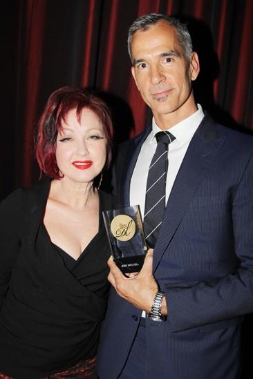 2013 Drama League Awards Luncheon — Cyndi Lauper — Jerry Mitchell