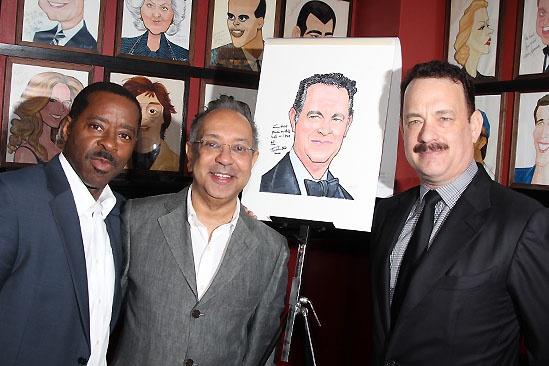 Tom Hanks at Sardi's — Courtney B. Vance — George C. Wolfe — Tom Hanks