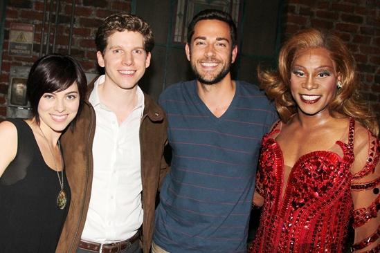 Zachary Levi and Krysta Rodriguez at 'Kinky Boots' — Krysta Rodriguez — Stark Sands — Zachary Levi — Billy Porter