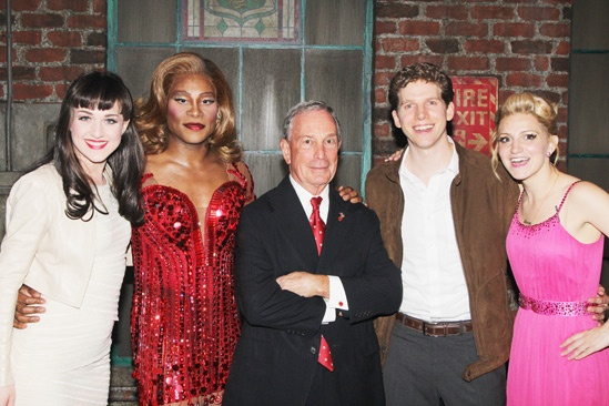 Kinky Boots- Celina Carvajal- Billy Porter- Mayor Mike Bloomberg- Stark Sands- Annaleigh Ashford