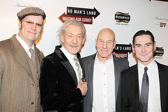 Waiting For Godot – Opening Night – Shuler Hensley – Ian McKellen – Patrick Stewart – Billy Crudup