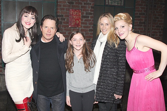 Michael J. Fox Visits Kinky Boots – Lena Hall – Michael J. Fox – Annaleigh Ashford