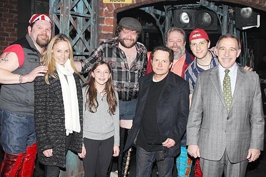 Michael J. Fox Visits Kinky Boots –Daniel Sherman – Tracy Pollan – Esmé Fox Stephen Tewksbury – Michael J. Fox – Eric Leviton – Andy Keslo – Stephen Berger