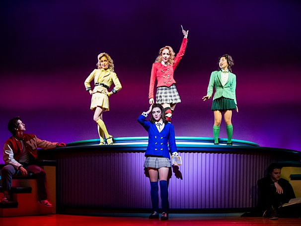 Heathers: The Musical - Show Photos - PS - 3/14 - Elle McLemore - Jessica Keenan Wynn - Alice Lee - Barrett Wilbert Weed