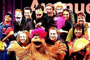 Avenue Q in Vegas - cast onstage