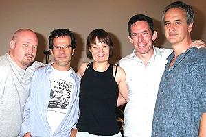 Jersey Boys Press Preview - Kevin Dow - Steve Gouveia - Michelle Bosch - Richard Hester - Mark Lotito