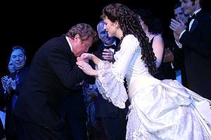 Phantom Record Breaking Party - Michael Crawford - Sandra Joseph (curtain)