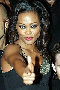 """Chicago Givens O'Hurley Press Event - Robin Givens - """"pow"""""""