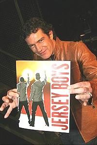 Stars Come Out for Jersey Boys -  Antonio Banderas with program