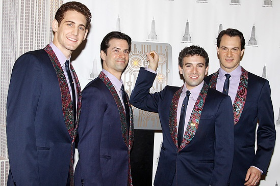Jersey Boys at Empire State Building – Ryan Jesse – Dominic Nolfi – Jarrod Spector – Matt Bogart