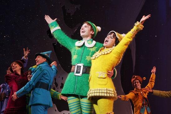 Elf opens – Sebastian Arcelus – Amy Spanger