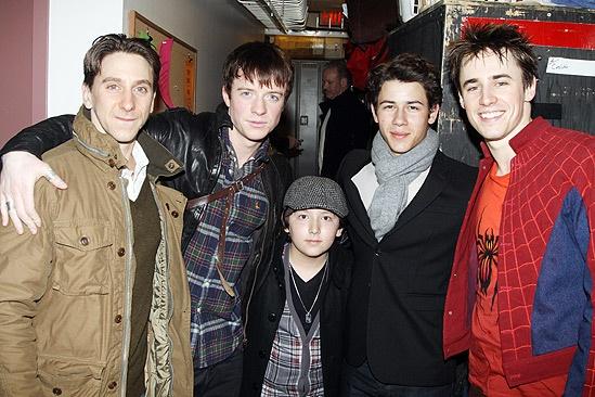 Nick Jonas Spidey - Luther Creek - James Matthew James Thomas - Frankie Jonas- Nick Jonas - Reeve Carney