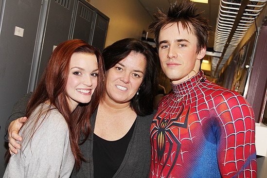 Rosie O'Donnell Visits Spider-Man, Turn off the Dark – Jennifer Damiano – Rosie O'Donnell – Reeve Carney