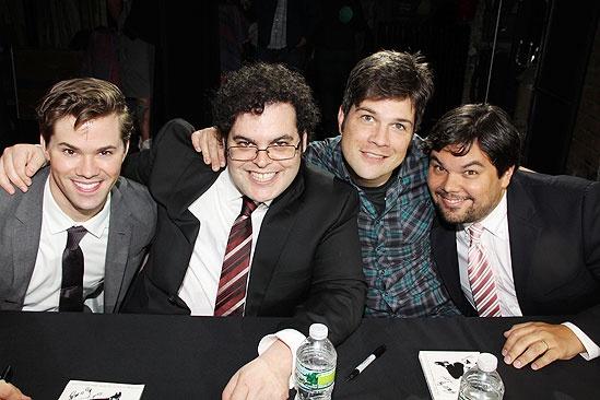 Mormon signing – Andrew Rannells – Josh Gad- Stephen Oremus – Bobby Lopez