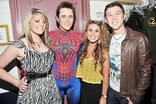 Spider-Man Idols – Lauren Alaina – Reeve Carney – Haley Reinhart – Scotty McCreery