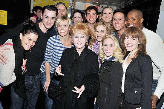 Debbie Reynolds at <i>Follies</i> - Debbie Reynolds and the cast of <i>Follies</i>