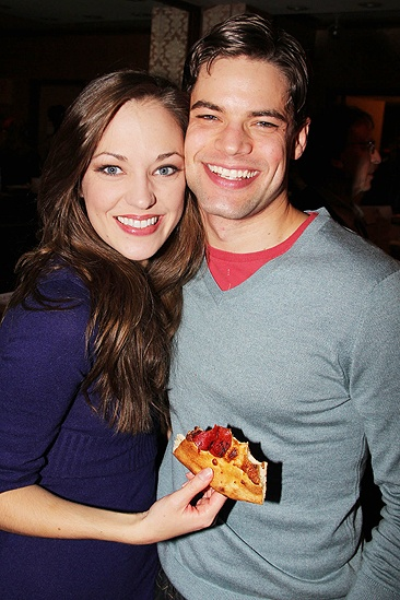 <i>Bonnie & Clyde</I> Birthday Pizza Party – Laura Osnes – Jeremy Jordan