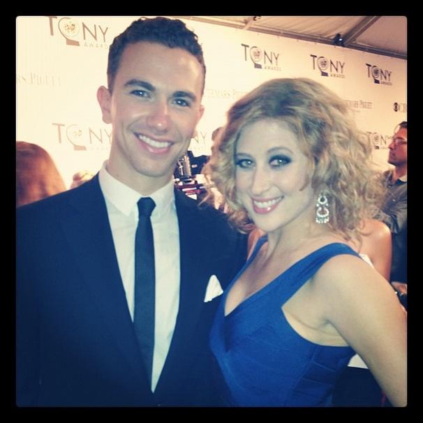 2012 Tony Awards Instagram Snapshots – Caissie Levy – Richard Fleeshman