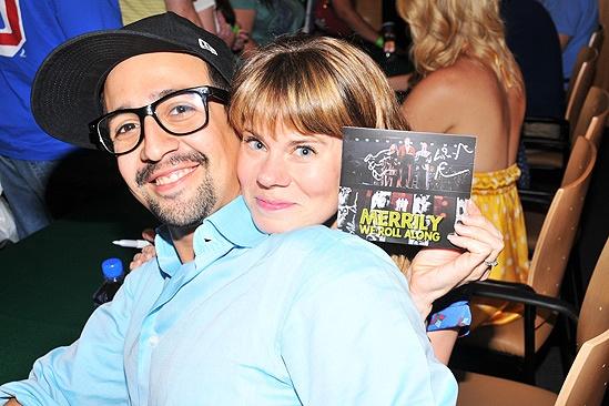 Merrily CD Signing- Lin-Manuel Miranda- Celia Keenan-Bolger