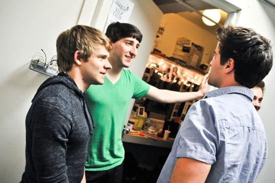 Newsies –Backstage- Andrew Keenan-Bolger- Ben Fankhauser- Corey Cott