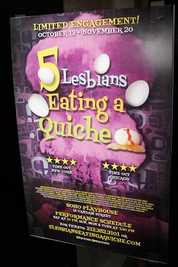 '5 Lesbians Eating a Quiche' Opening Night