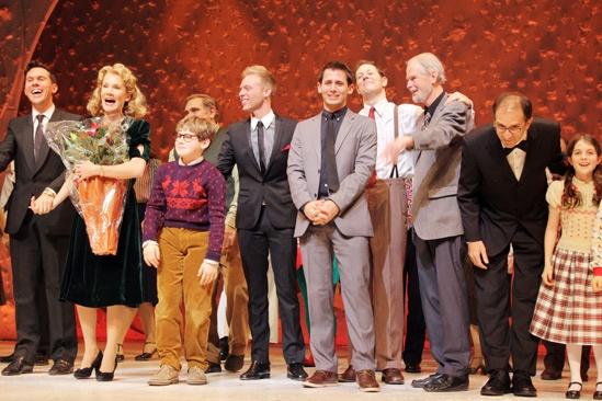 'A Christmas Story' Opening Night — Erin Dilly — Johnny Rabe — Justin Paul — Benj Pasek — John Bolton — Joseph Robinette