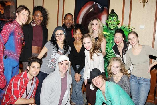Jamie Foxx at 'Spider-Man' - Cast and Crew