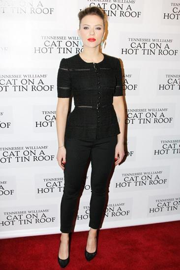 Cat on a Hot Tin Roof – opening – Scarlett Johansson