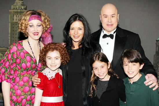 Annie- Katie Finneran- Lilla Crawford- Catherine Zeta-Jones- Carys Zeta Douglas- Dylan Michael Douglas- Merwin Foard