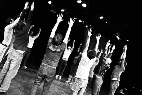 Hit the Wall Rehearsal- The Cast