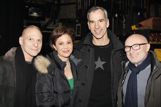 Phil Collins at 'Kinky Boots' — Barry Kohn — Dana Tyler — Jerry Mitchell — Phil Collins